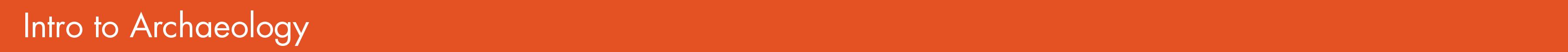 new orange archaeology
